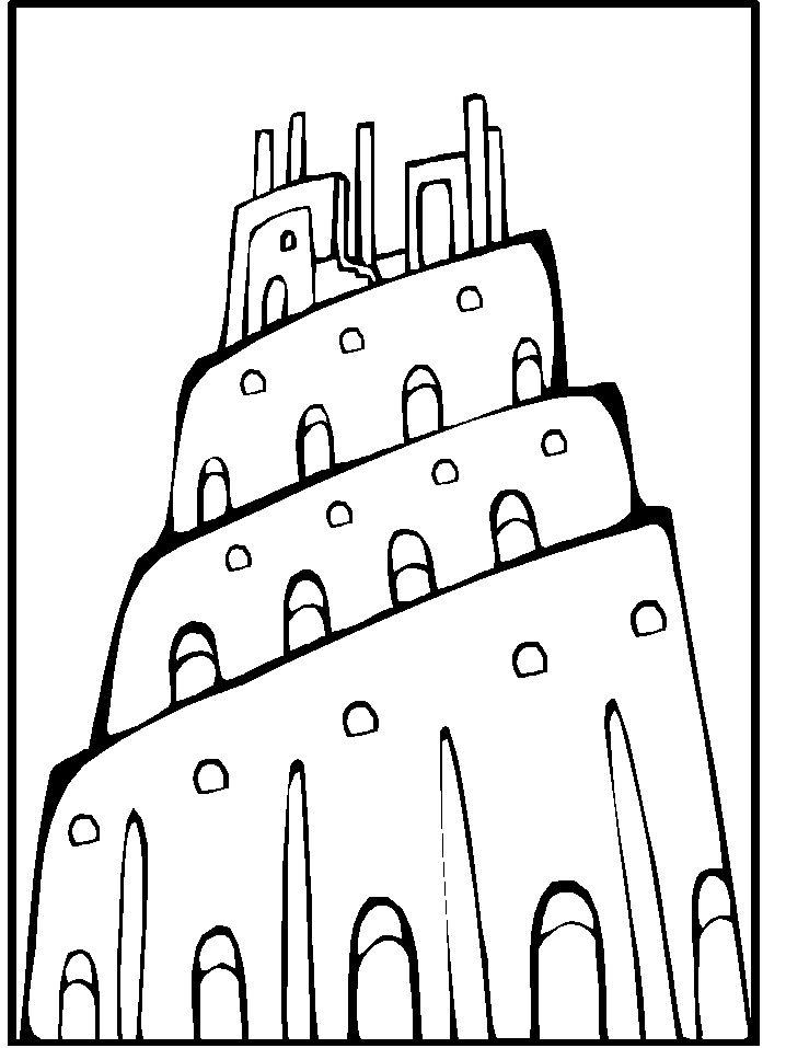 Torre De Babel Dibujos Para Colorear Dibujos Colorear