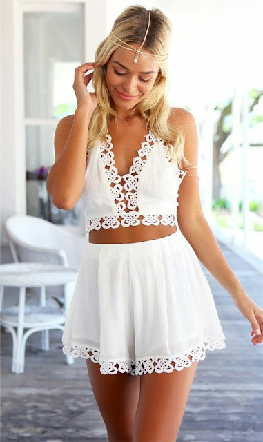 White Blouse with Skirt