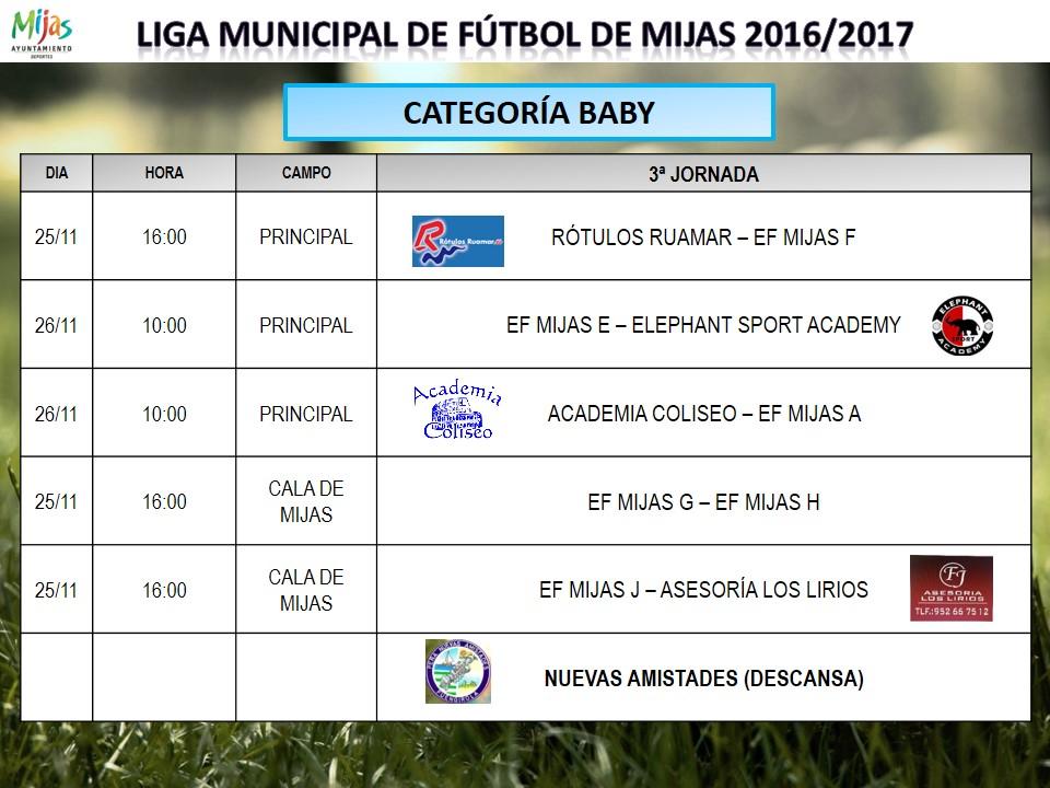 Horarios 3 j liga municipal 2016 2017 for Liga municipal marca