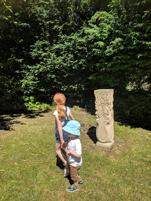 Cheeseburn Sculpture Gardens Review | Opening Dates & Top Tips for Visiting  - stone carving