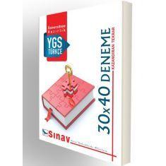 Sınav Dergisi YGS Türkçe 30x40 Deneme