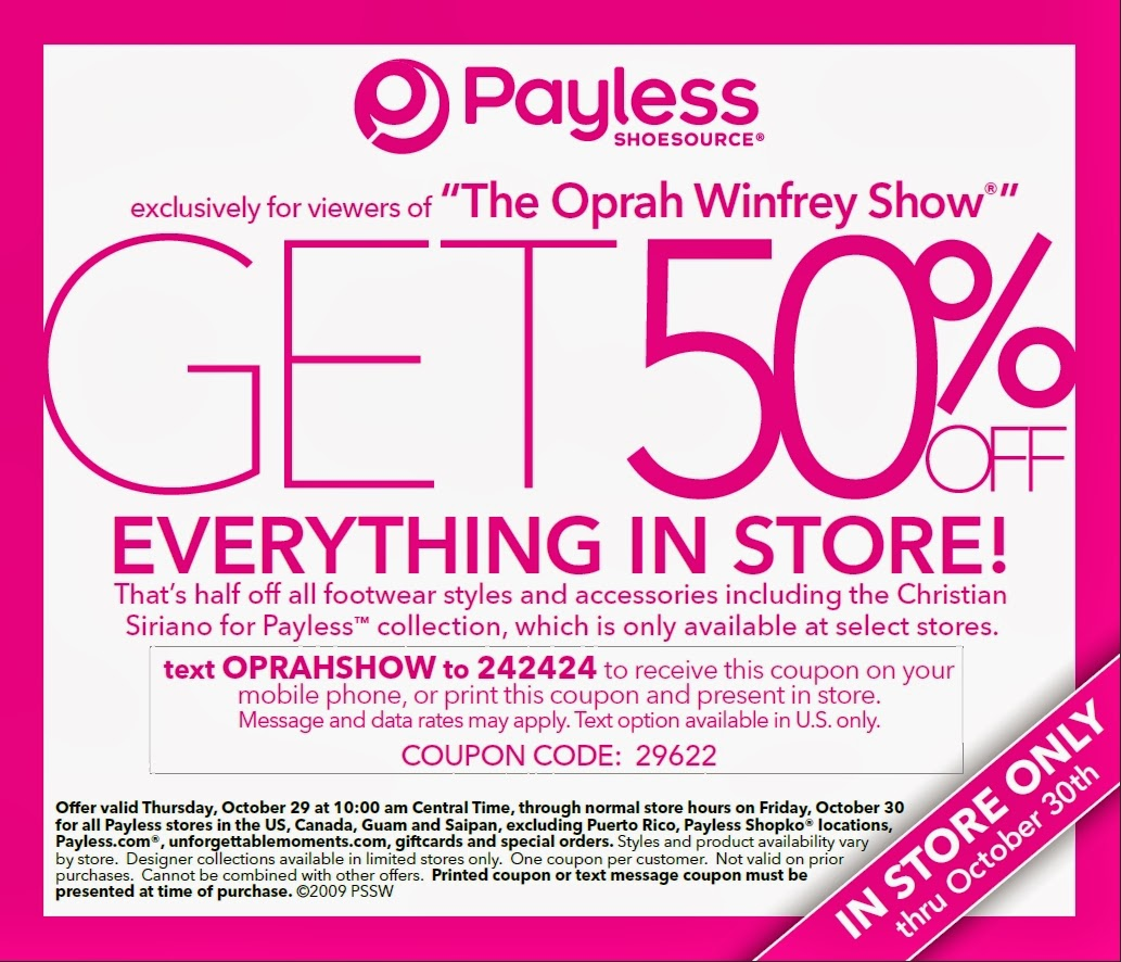 Payless Shoes Coupons June