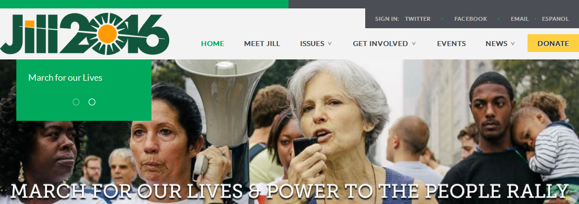 Green Party: Dr. Jill Stein