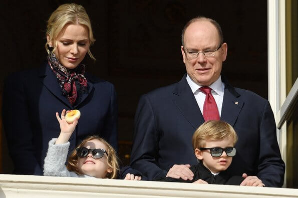 Prince Albert, Princess Charlene with their children Princess Gabriella and Prince Jacques