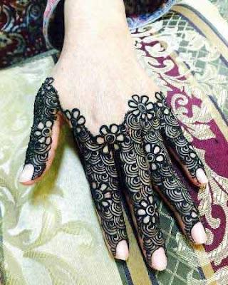 Mehndi patterns for fingers