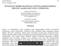 Jurnal Bahasa Melayu Pdf  Download- Institut Pendidikan Guru Malaysia – Amalan Komunikatif; Guru Cemerlang; Prinsip Amalan Komunikatif; Kajian  Kualitatif; Keterampilan Berbahasa
