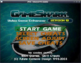Cara mudah menggunakan Gameshark V.5 untuk emulator PSX (lengkap dengan gambar)
