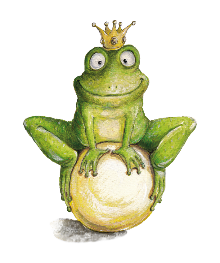children's illustration, fairy tales, frog prince, Frosch, Märchen