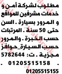وظائف وسيط الاسكندرية - مشرفين مواقع