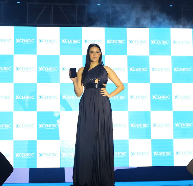 Bollywood Celeb Neha Dhupia launched  CENTRiC Smartphones at an event in Mumbai.(1)