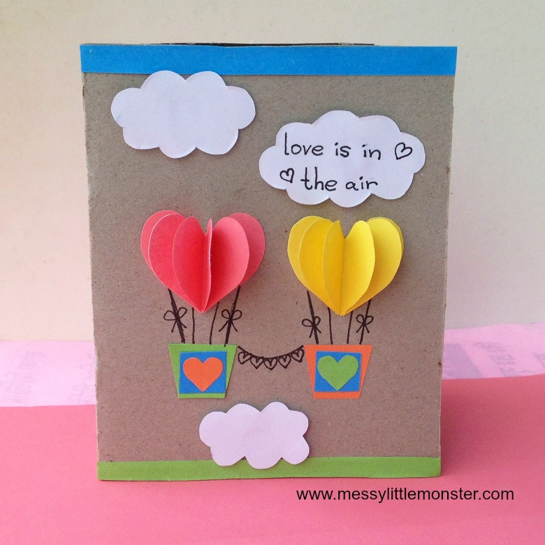 heart air balloons card air balloon card 4652