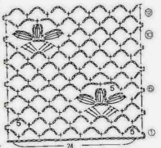 Ponto de Crochê Com Gráfico 06