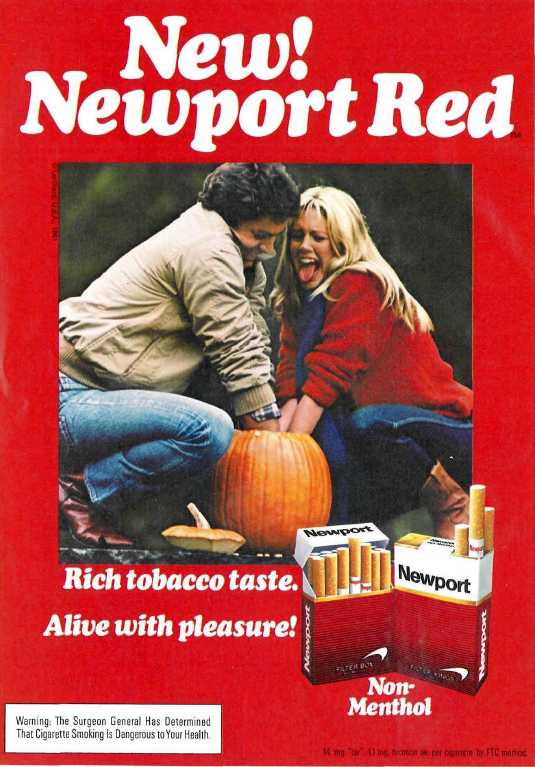 �alive with pleasure� � newport adverts on magazines from
