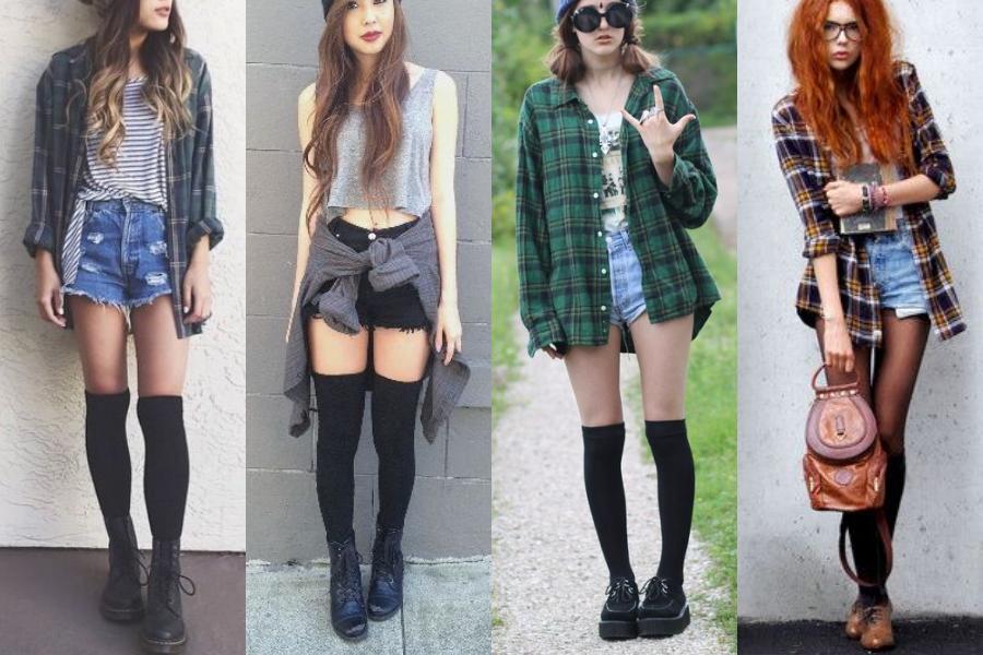 knee-socks-grunge-outfits - DEADDSOULS: 3 WAYS TO WEAR KNEE-HIGH SOCKS