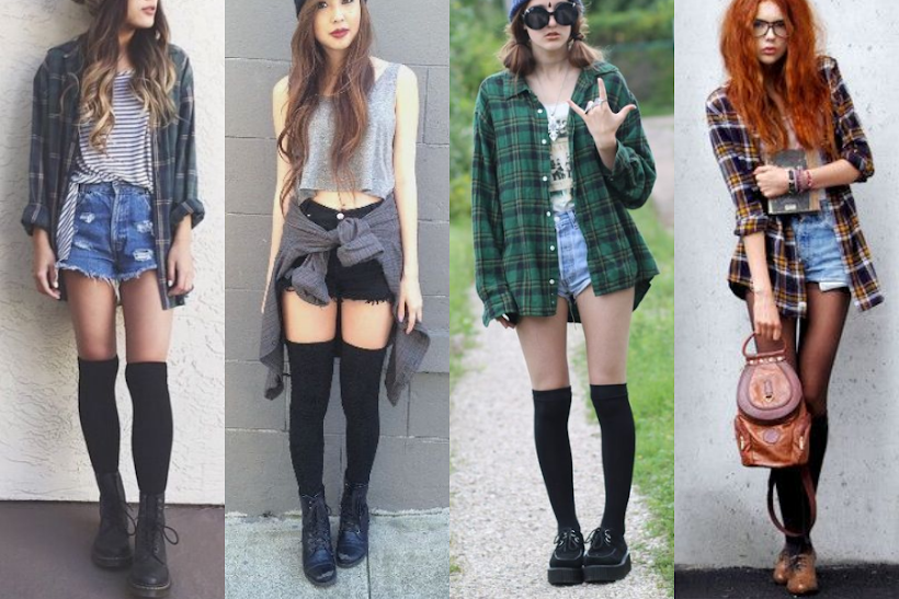 knee-socks-grunge-outfits