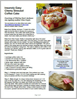 Cleo coyle recipes cake mix click here for free recipe pdf forumfinder Choice Image