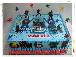 D Angel Cakes Avenger Cake