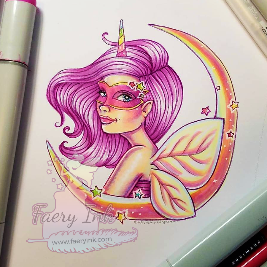 One Day Fae Digi Giveaway - Unicorn Moon Masquerade Fae