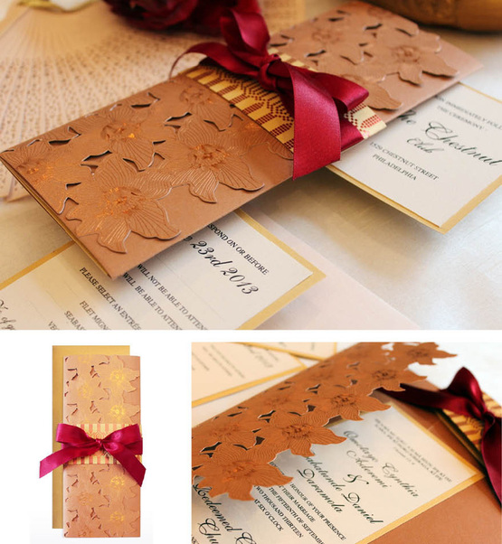 Three Step Process That Involves Choosing The Card Paper Foil Xhosa Traditional Wedding Invitations