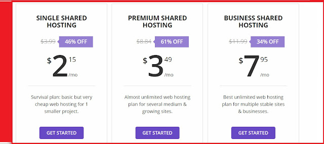 Hostinger cheap Web hosting with single premier and business plans for speedy website