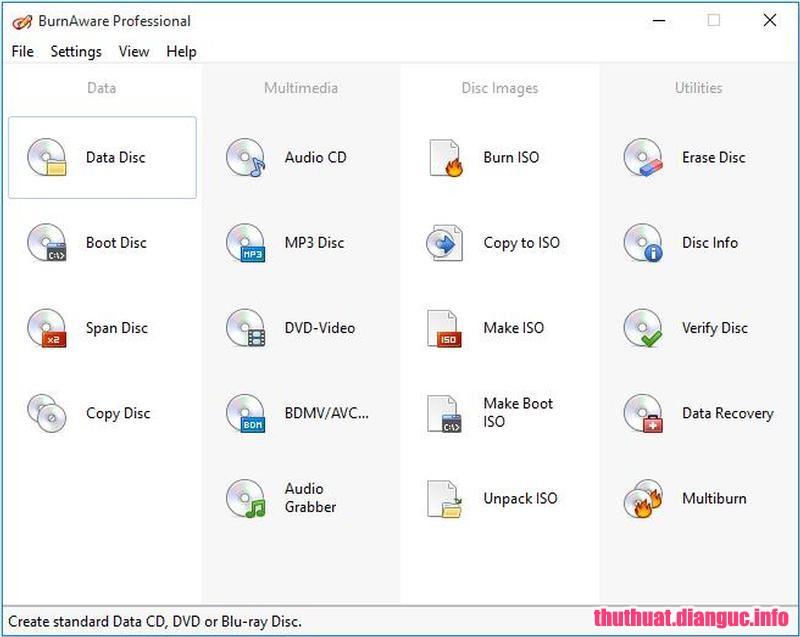 Download BurnAware Professional 11.5 Full Cr@ck + Portable – Phần mềm ghi đĩa nhỏ gọn