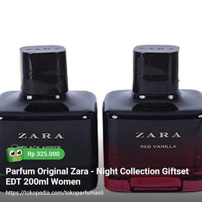 toko parfum asli parfum original zara night collection giftset edt 200ml woman