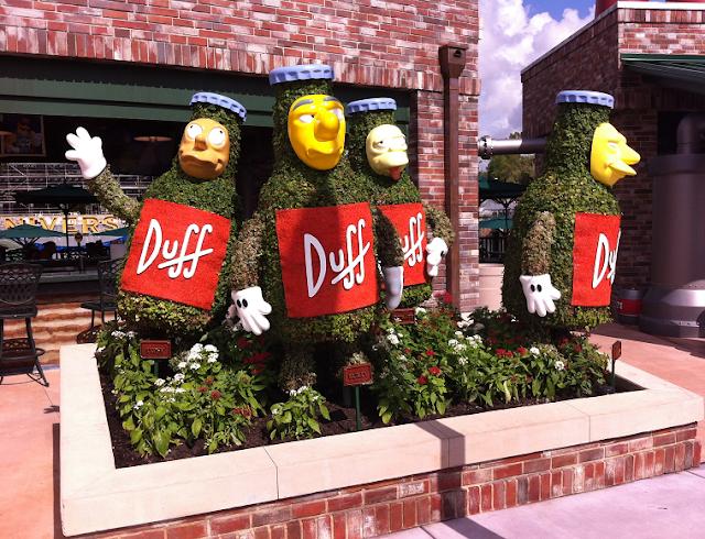 Detalhes da Springfield no Universal Studios