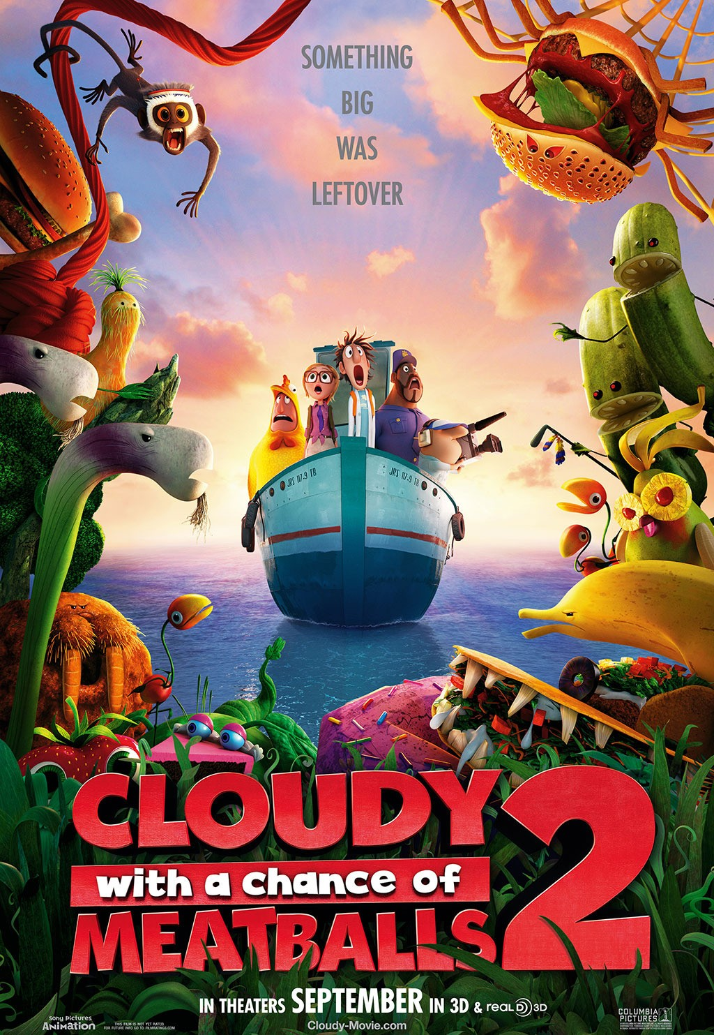 Trailer and Poster of Cloudy With a Chance of Meatballs 2
