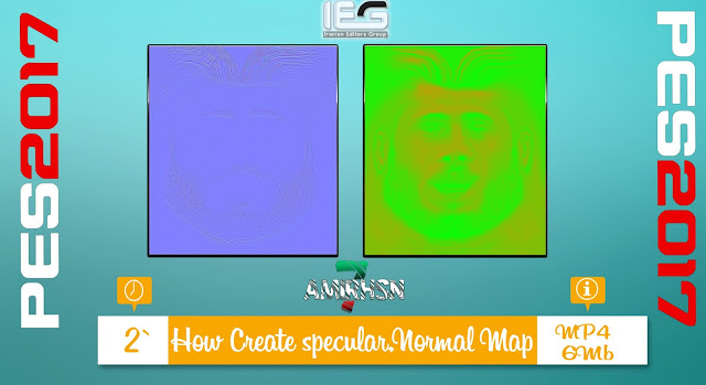[Tutorial PES 2017] How Create specular, normal Map (GM and ND Action) By Amir.Hsn7