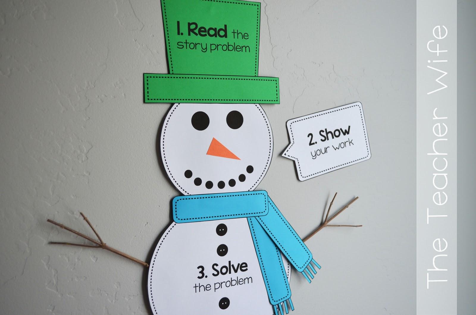 The Teacher Wife How Do Snowmen Solve Story Problems