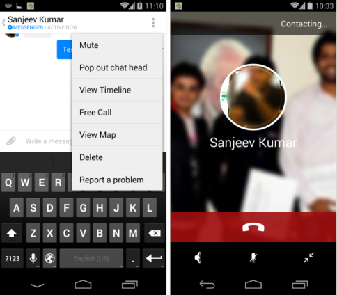 Facebook Messenger App gets Free Voice Call Feature in India | Tech