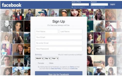 Facebook Desktop Login Page
