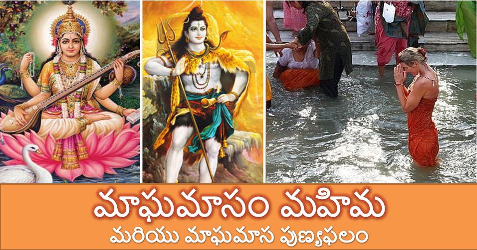 మాఘమాసం మహిమ మరియు మాఘమాస పుణ్యఫలం - Rituals of Maagham month