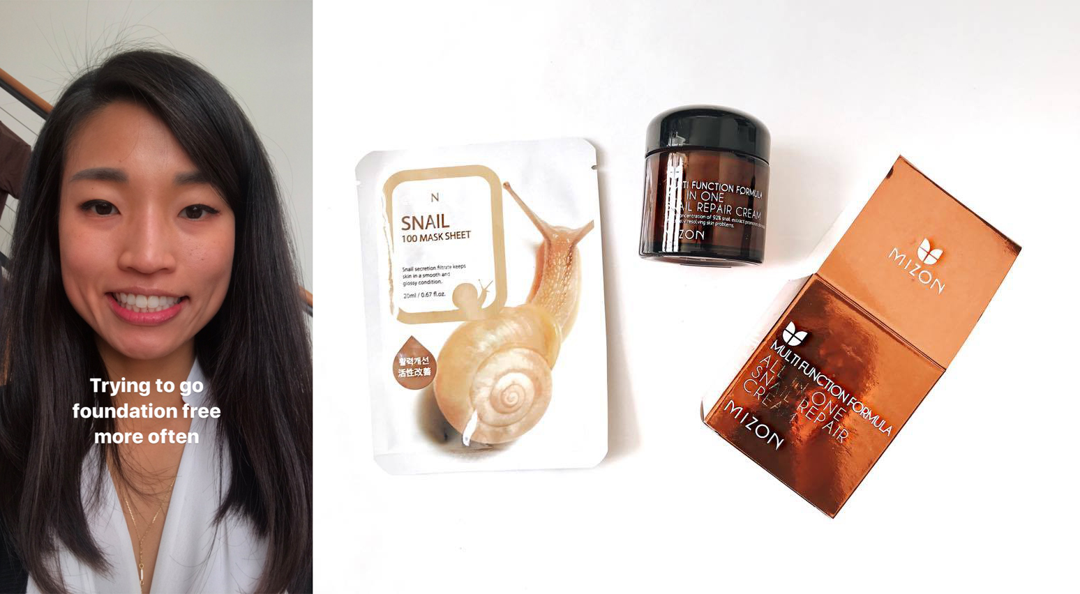 How Jen uses Mizon All-In-One Snail Repair Cream. From The Jen Project, a skincare blog for lazy people.