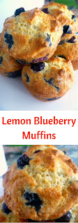 Light delicate muffins laced with the bright taste of lemon and bursting with plump juicy blueberries.  What could be more comforting for breakfast than that?  Slice of Southern