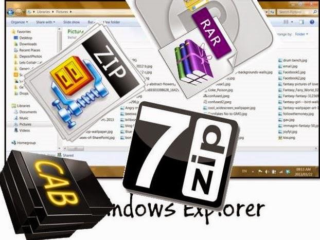 Tips Windows: Cara kompresi & ekstrak (unzip) file  Zip  Rar  7z