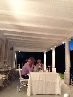 Terrace Grand Dedale Country House, dinner, setting for dinner