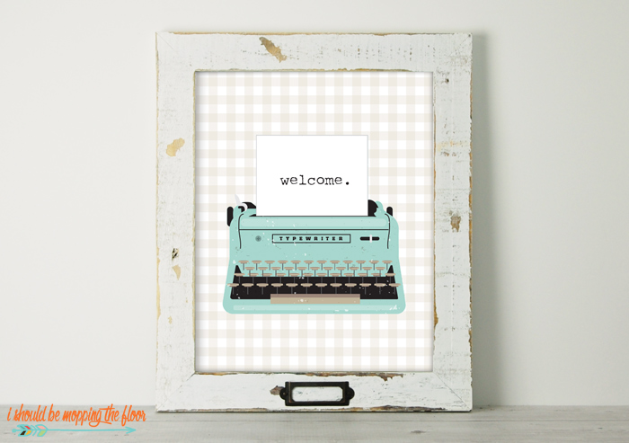 Typewriter Welcome Printable