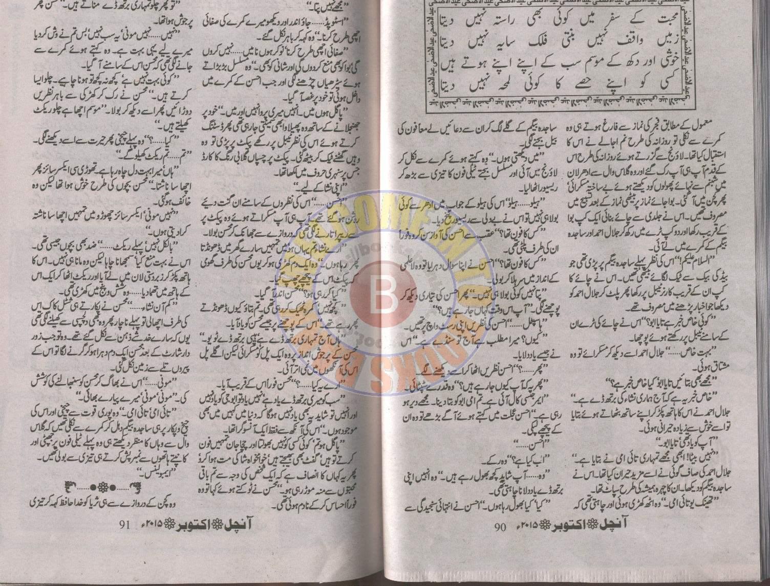 Tery Ishq Nachaya Novel By Nighat Abdullah Joint Family System