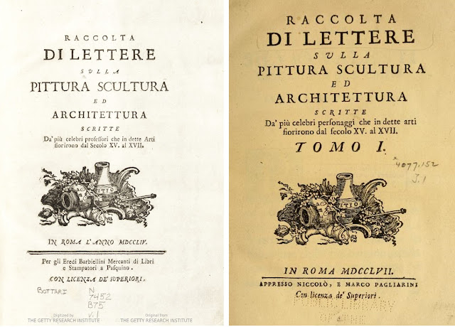 Fig. 14) At the left  The frontispiece of the collection of letters edited  by Giovanni Gaetano Bottari in the Barbiellini edition (1754) abb9202c6c5