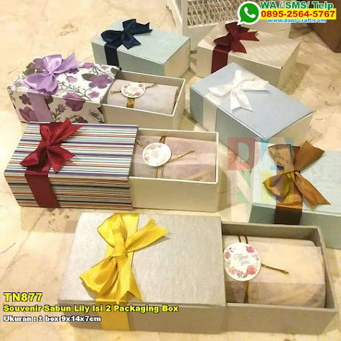 Souvenir Sabun Lily Isi 2 Packaging Box