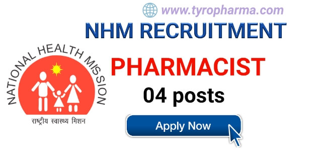 State Health Society, NHM Recruitment - Pharmacist 04 posts