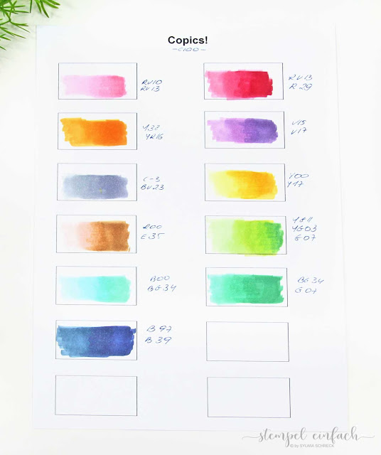 Stampin´ Blends vs. Copics