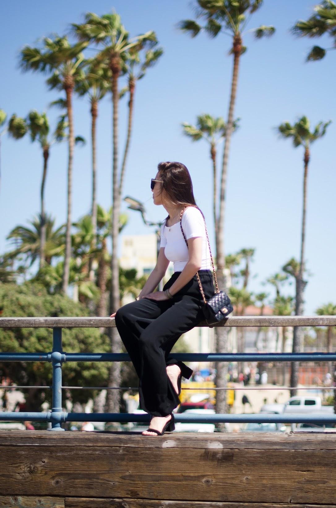 santa monica pier outfit wide leg pants