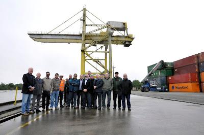 Superintendente da CPRM visita terminal hidroviário ligado ao porto de Rio Grande
