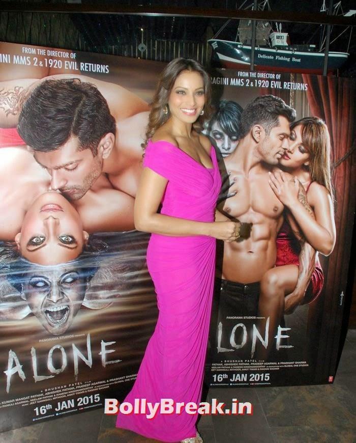Alone Trailer & Music Launch, Bipasha Basu in Pink Dress at Alone Trailer & Music Launch