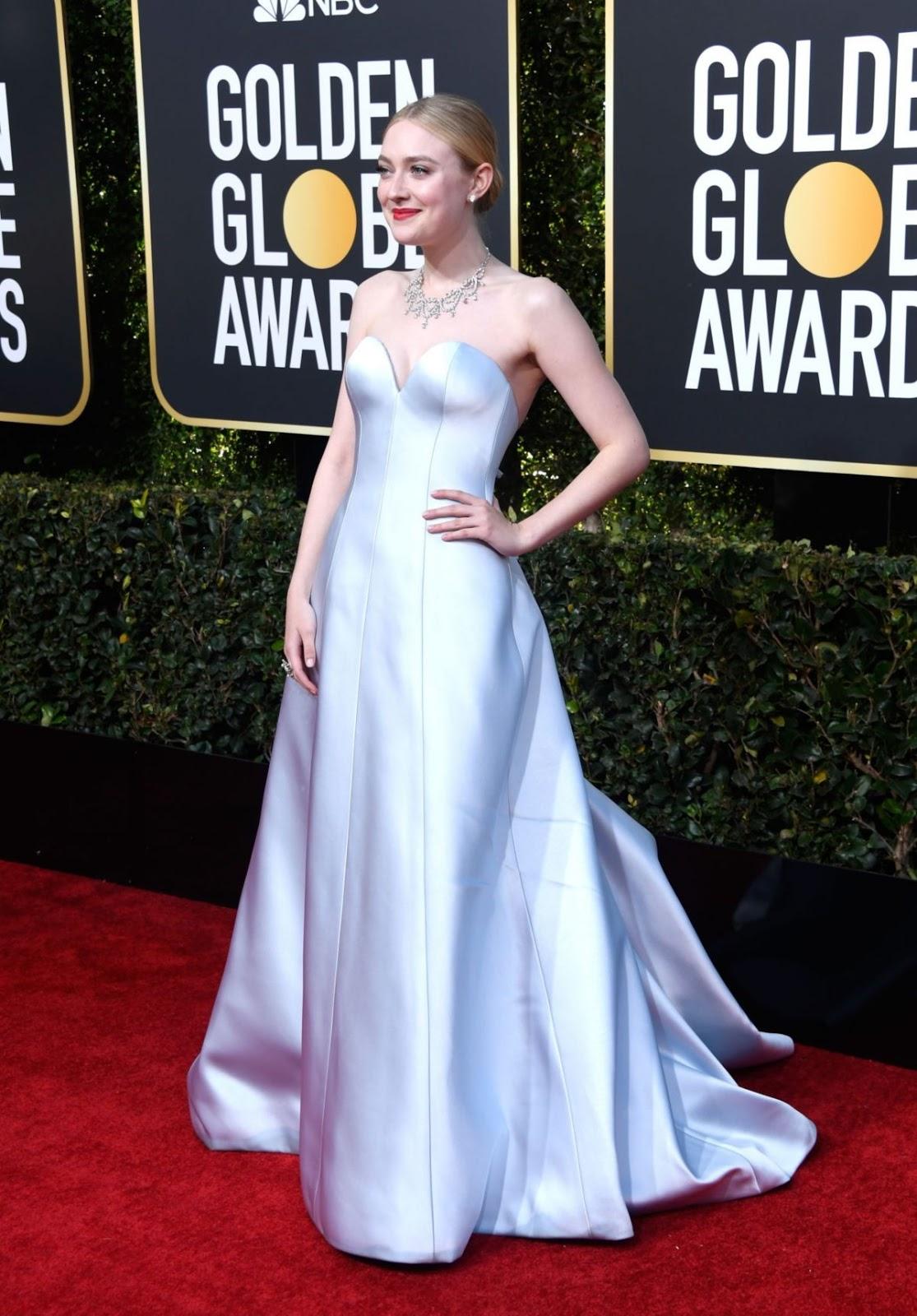 DAKOTA FANNING at 2019 Golden Globe Awards in Beverly Hills