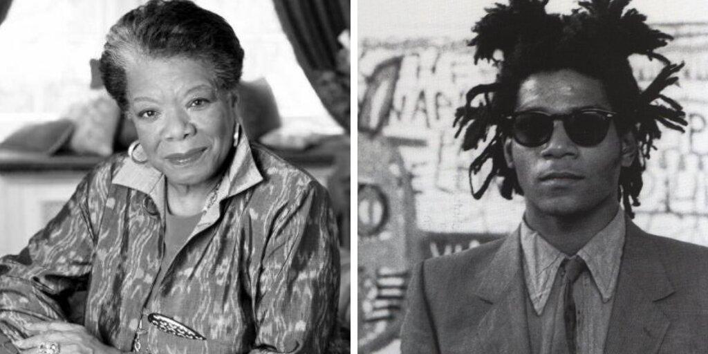 Maya Angelou e Jean-Michel Basquiat