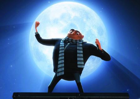 Gru pique la Lune dans le premier épisode de Moi Moche et méchant (2010)