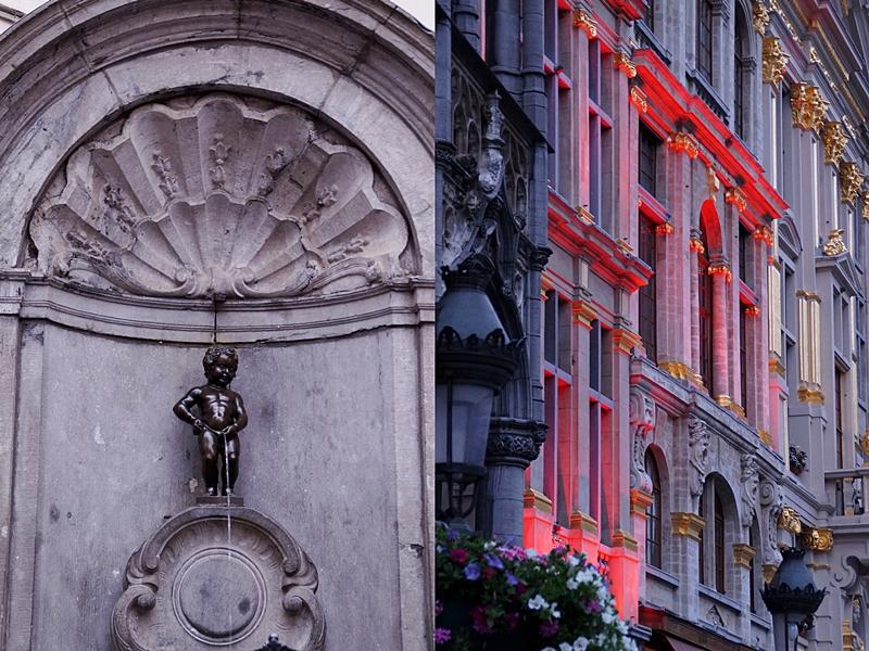 Brüsseler Attraktionen: Grand Place/ Groote Markt in der Innenstadt und Manneken Pis